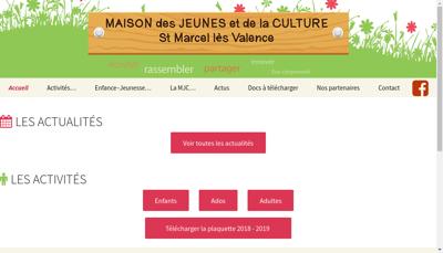 Capture d'écran du site de Maison des Jeunes et de la Culture