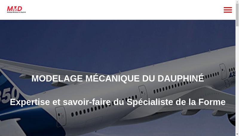 Capture d'écran du site de Modelage Mecanique du Dauphine