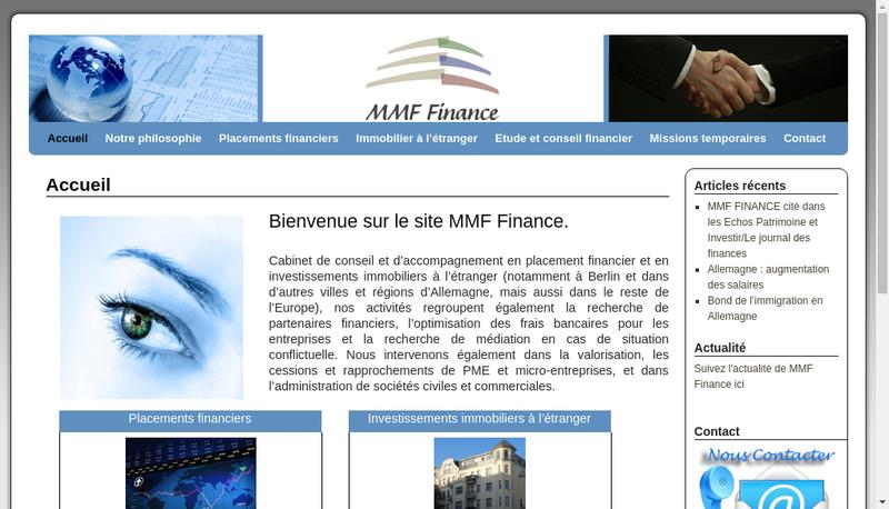 Capture d'écran du site de Mmf Finance