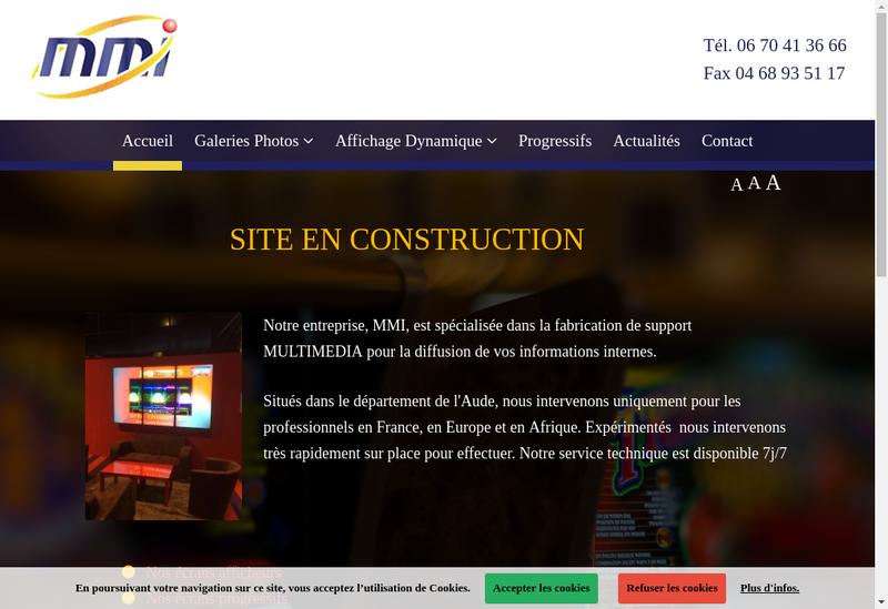 Capture d'écran du site de EURL MMI