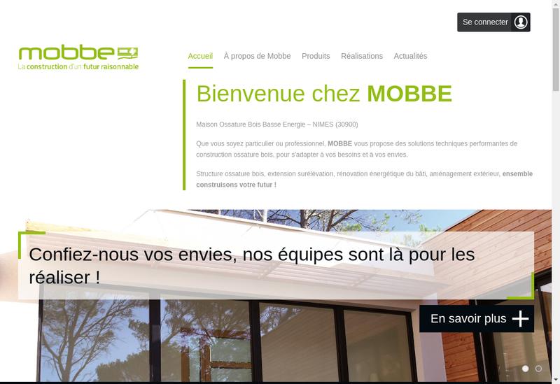 Capture d'écran du site de SARL Mobbe