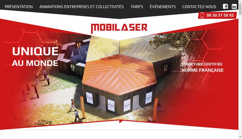Capture d'écran du site de Mobilaser