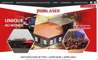 Site internet de Mobilaser