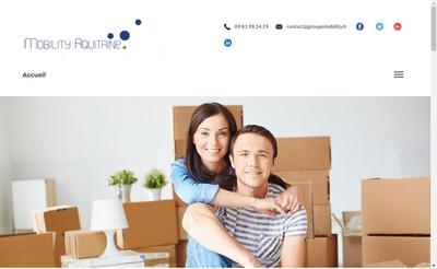 Site internet de Mobility Aquitaine