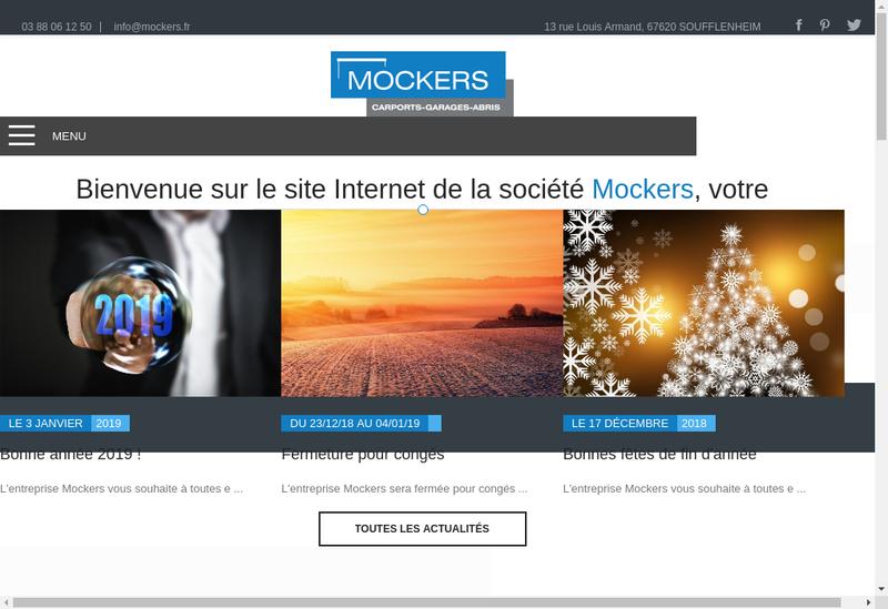 Capture d'écran du site de Mockers