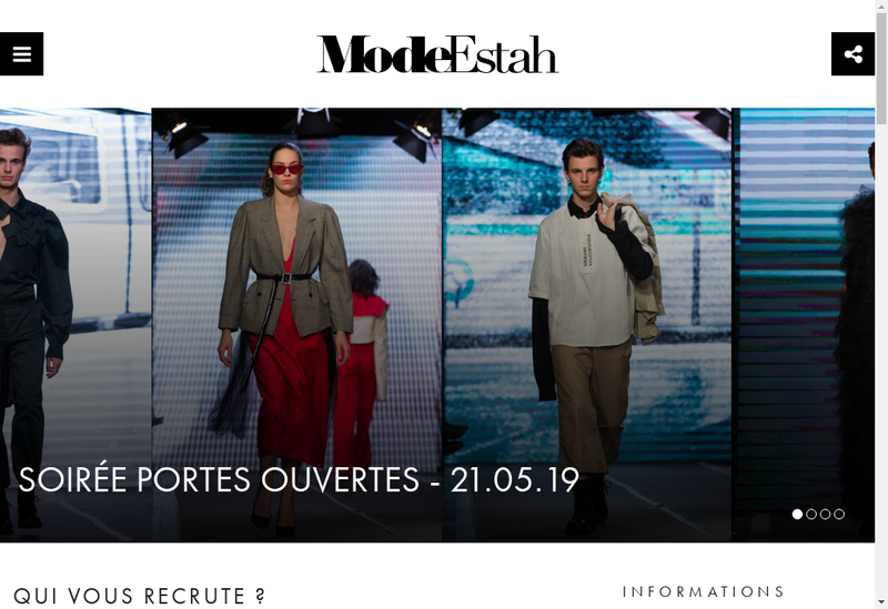 Capture d'écran du site de Mode'Estah