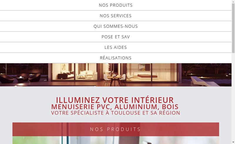 Capture d'écran du site de Mode et Fenetres
