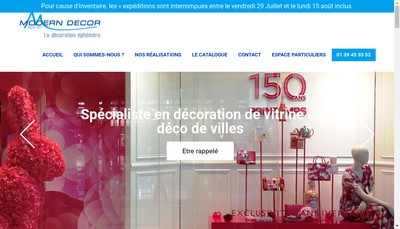 Site internet de Modern Decor