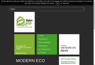 Site internet de Modern Eco