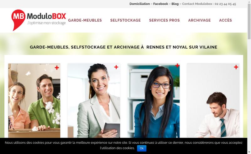 Capture d'écran du site de Modulobox Evolution