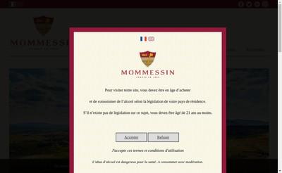 Site internet de Maison Mommessin et Thorin