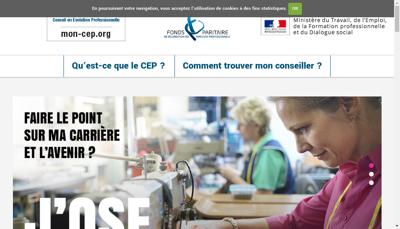 Capture d'écran du site de Fpspp