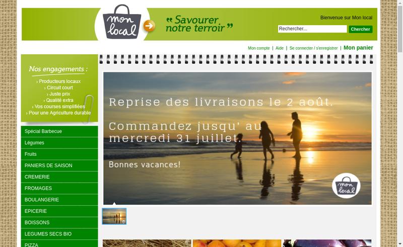 Capture d'écran du site de Mon Local