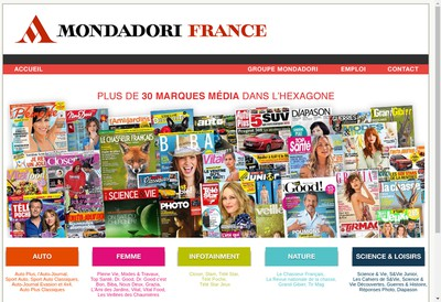 Site internet de Mondadori Magazines France