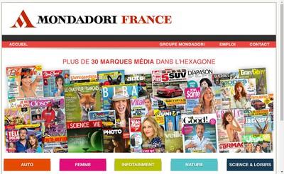 Site internet de Editions Mondadori Axel Springer