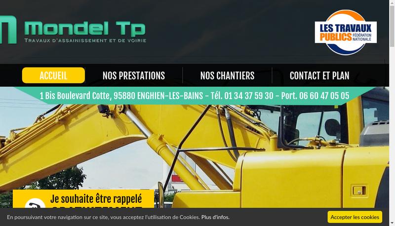 Capture d'écran du site de Mondel