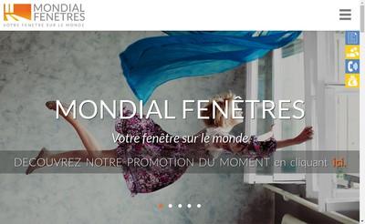 Site internet de Mondial Fenetre