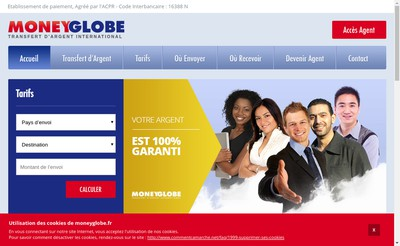 Site internet de Moneyglobe