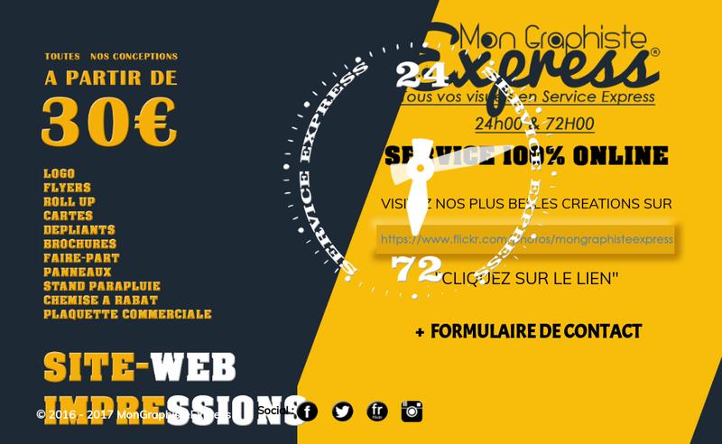 Capture d'écran du site de Mon Graphiste Express