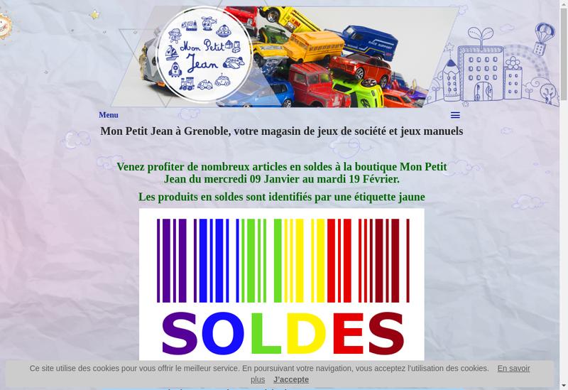 Capture d'écran du site de Mon Petit Jean