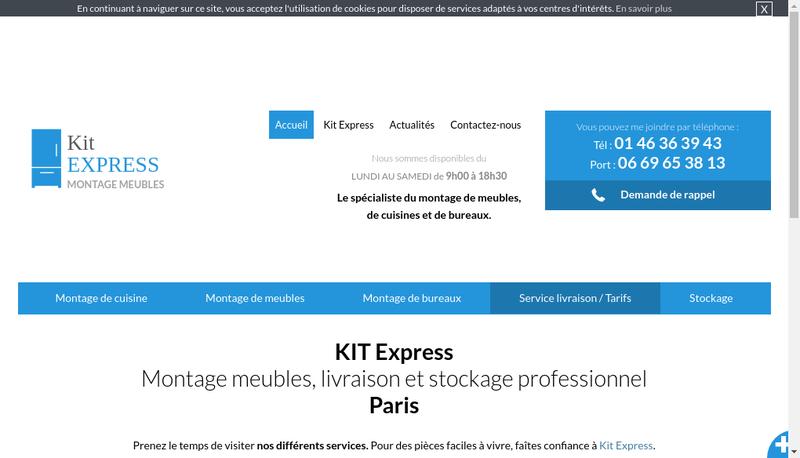 Capture d'écran du site de Kit Express SARL