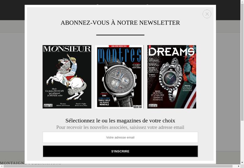 Capture d'écran du site de Monsieur Montres Magazine Tic-Tac