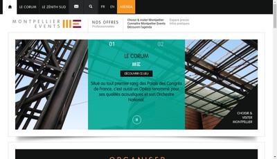 Site internet de Montpellier Events
