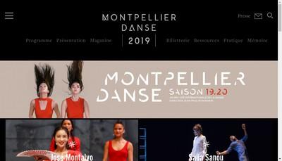 Site internet de Montpellier Danse