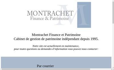 Site internet de Montrachet Finance et Patrimoine