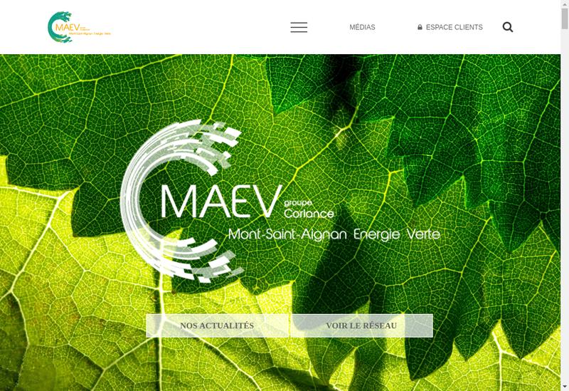 Capture d'écran du site de Mont Saint Aignan Energie Verte