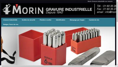 Capture d'écran du site de Morin Gravure
