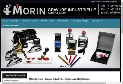 Site internet de Morin Gravure