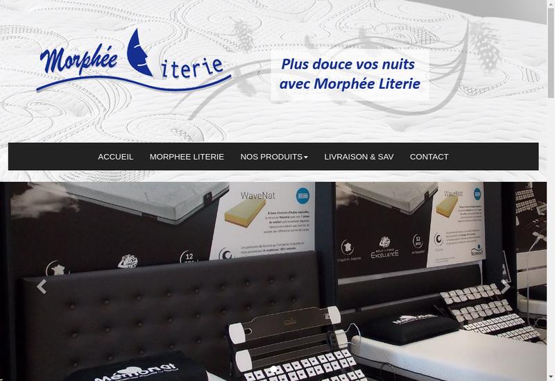 Capture d'écran du site de Morphee Literie