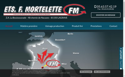 Site internet de Etablissements F Mortelette