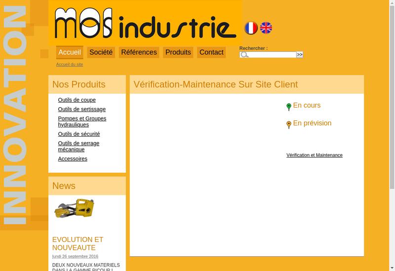 Capture d'écran du site de Mos Industrie