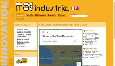 Site internet de Mos Industrie