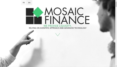 Capture d'écran du site de Mosaic Finance