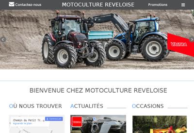 Capture d'écran du site de Motoculture Reveloise