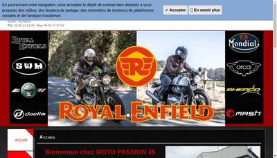Site internet de Moto Passion 35