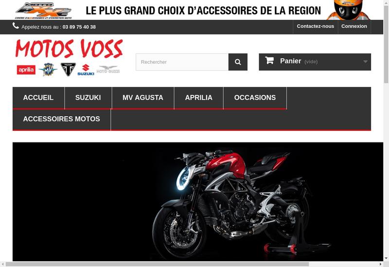 Capture d'écran du site de Motos Voss