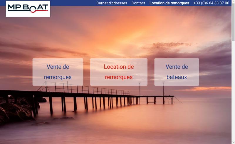 Capture d'écran du site de Mp Boat