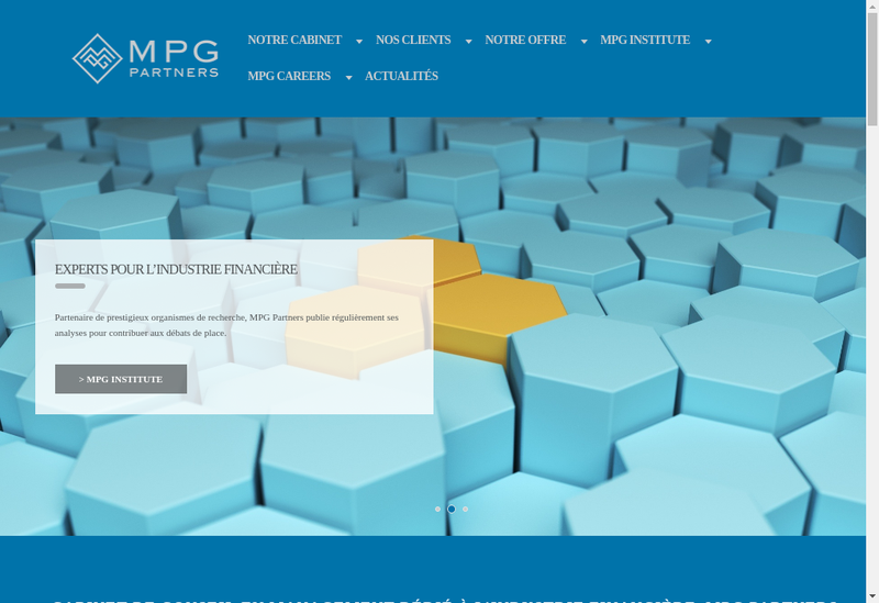Capture d'écran du site de Mpg Partners