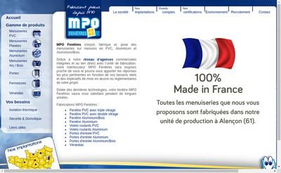 Site internet de Mpo Fenetres
