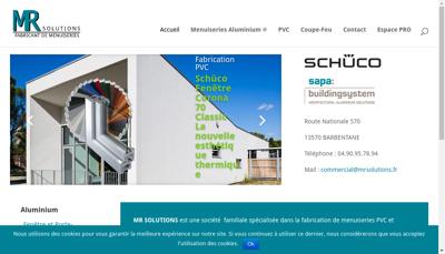 Capture d'écran du site de Mr Solutions