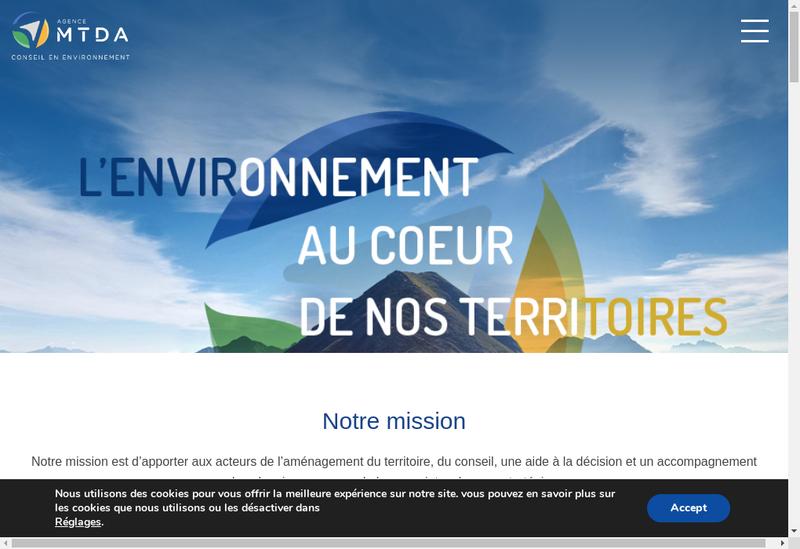 Capture d'écran du site de Agence Mtda