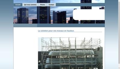 Capture d'écran du site de Mtk Echafaudage