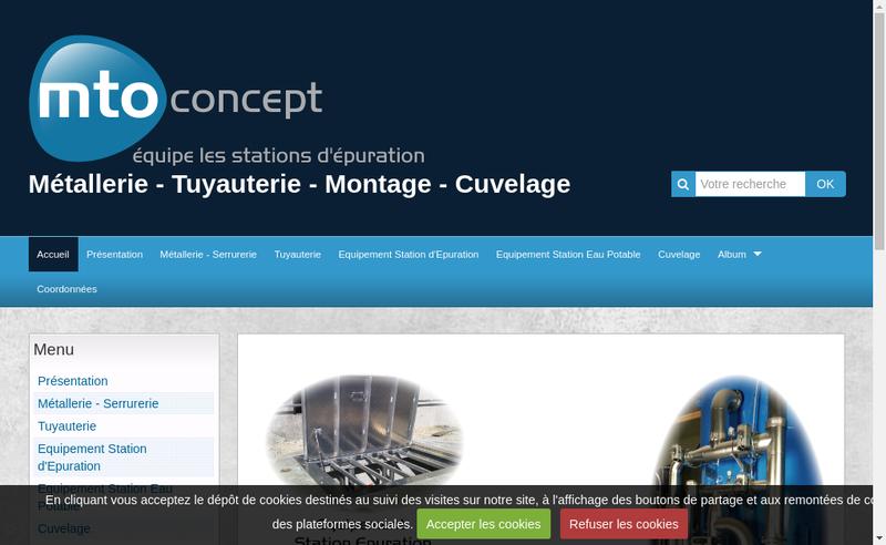 Capture d'écran du site de SARL Mto Concept