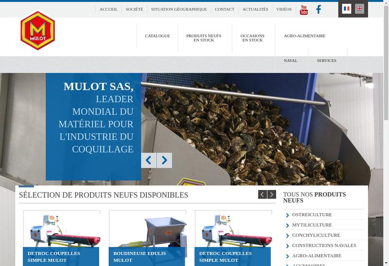 Capture d'écran du site de SA Mulot