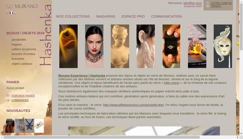 Capture d'écran du site de Hashenka