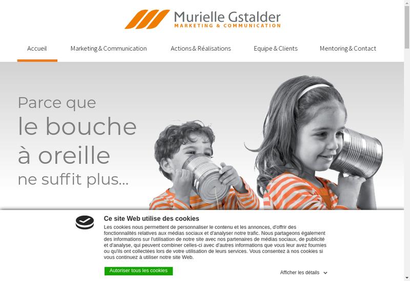 Capture d'écran du site de SARL Murielle Gstalder